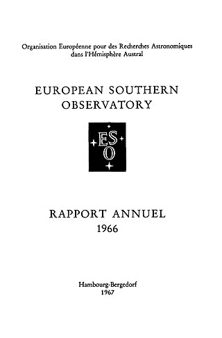 ESO Annual Report 1966 (French)