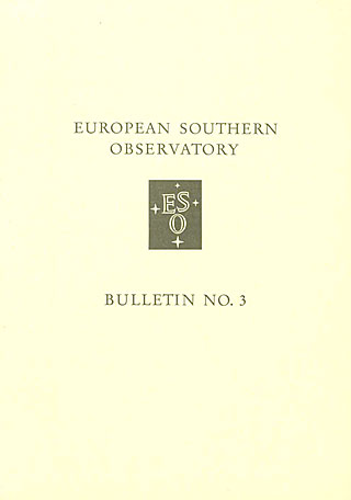 Bulletin 03 - European Southern Observatory