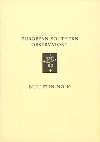Bulletin 10 - European Southern Observatory