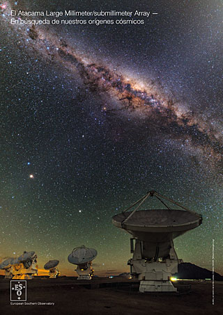 The Atacama Large Millimeter/submillimeter Array: ALMA handout (2015, Español)