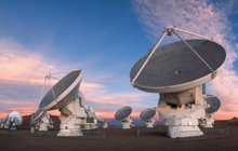 ALMA telescope dishes