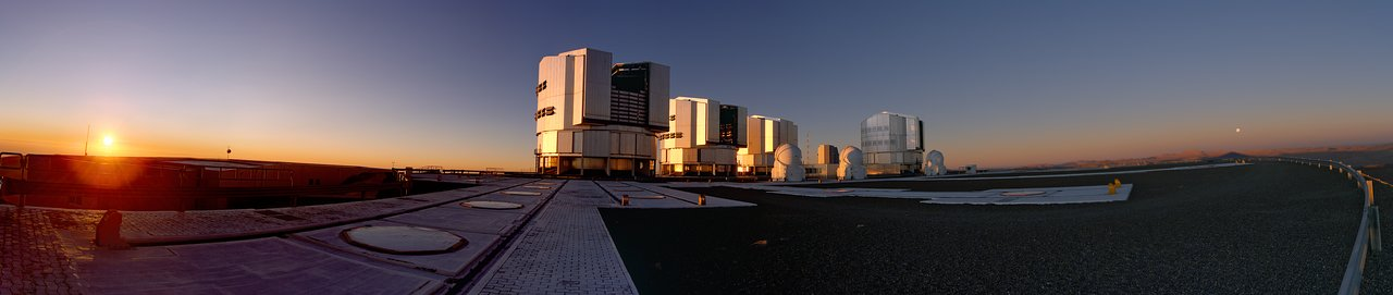 Panorama of Sunset on Paranal