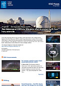 ESO — New telescope at ESO's La Silla joins effort to protect Earth from risky asteroids — Organisation Release eso2107