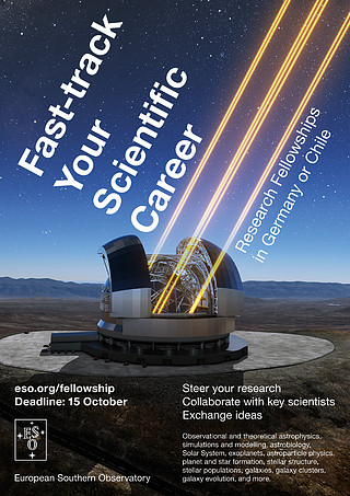 Research fellowships at ESO — Fast track your scientific career at Europe's leading astronomy organisation