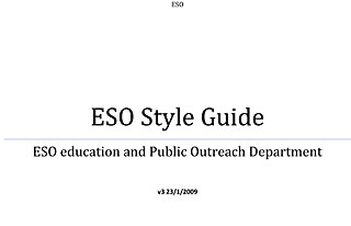 ESO's Style Guide (2009)